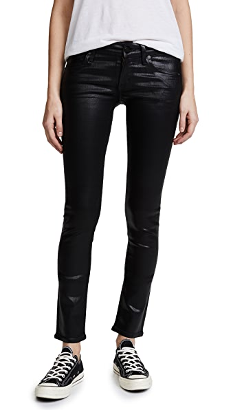Racer Leatherette Jeans