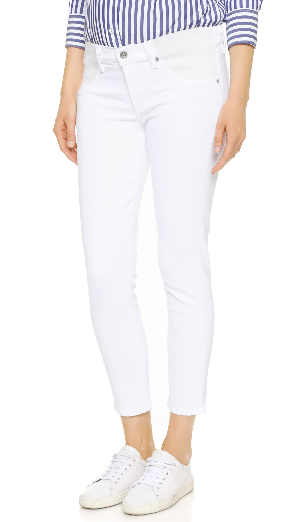 Citizens of Humanity Avedon Below the Belly Ultra Ankle Skinny Jeans In Optic White