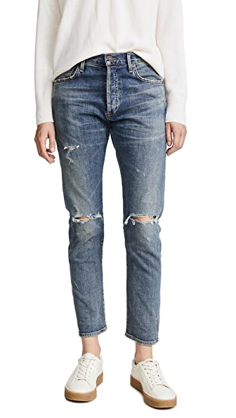 Citizens of Humanity Corey Straight Leg Ripped Jeans at Shopbop