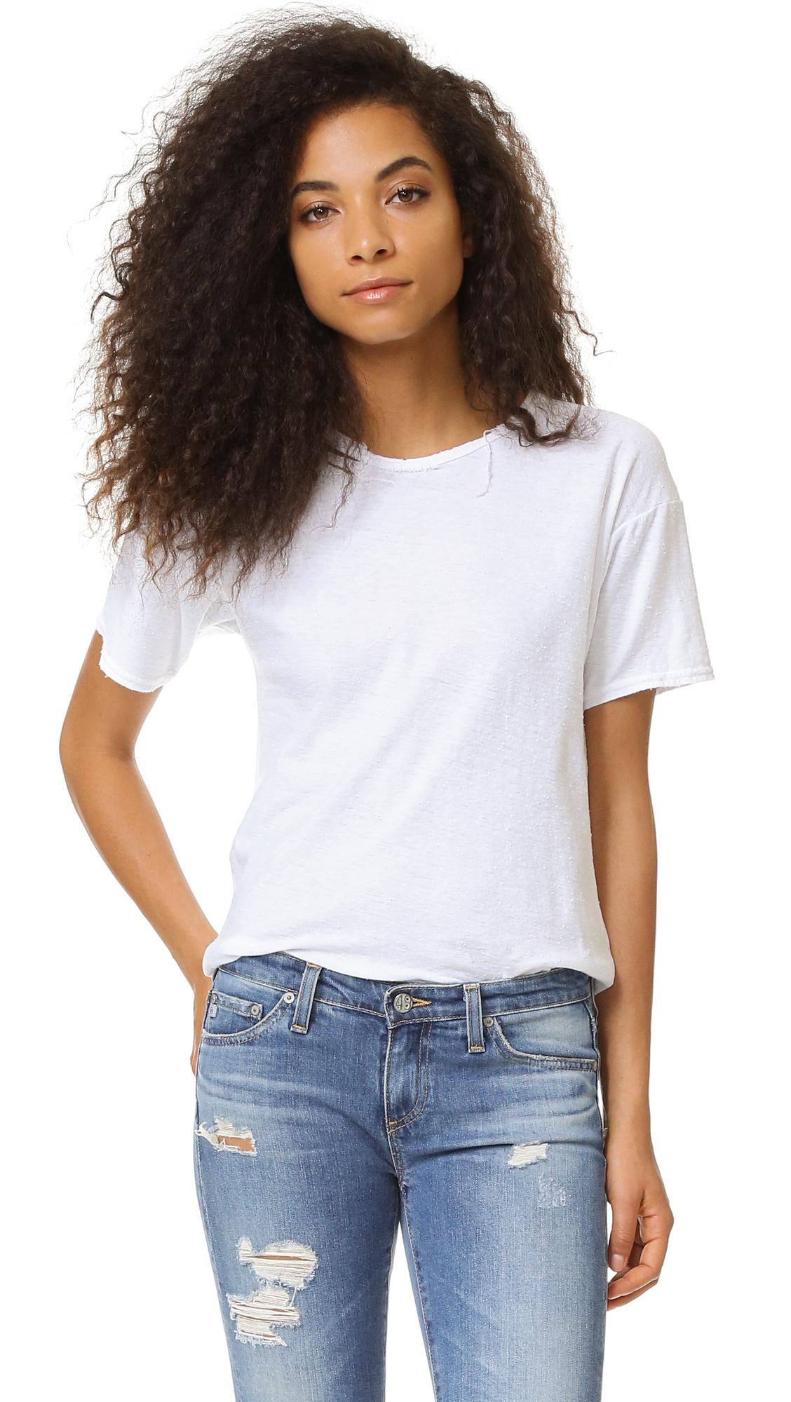 Citizens of Humanity Premium Vintage Esmay T-Shirt - Vintage White