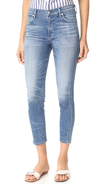 Citizens of Humanity Rocket High Rise Crop Jeans - Aura