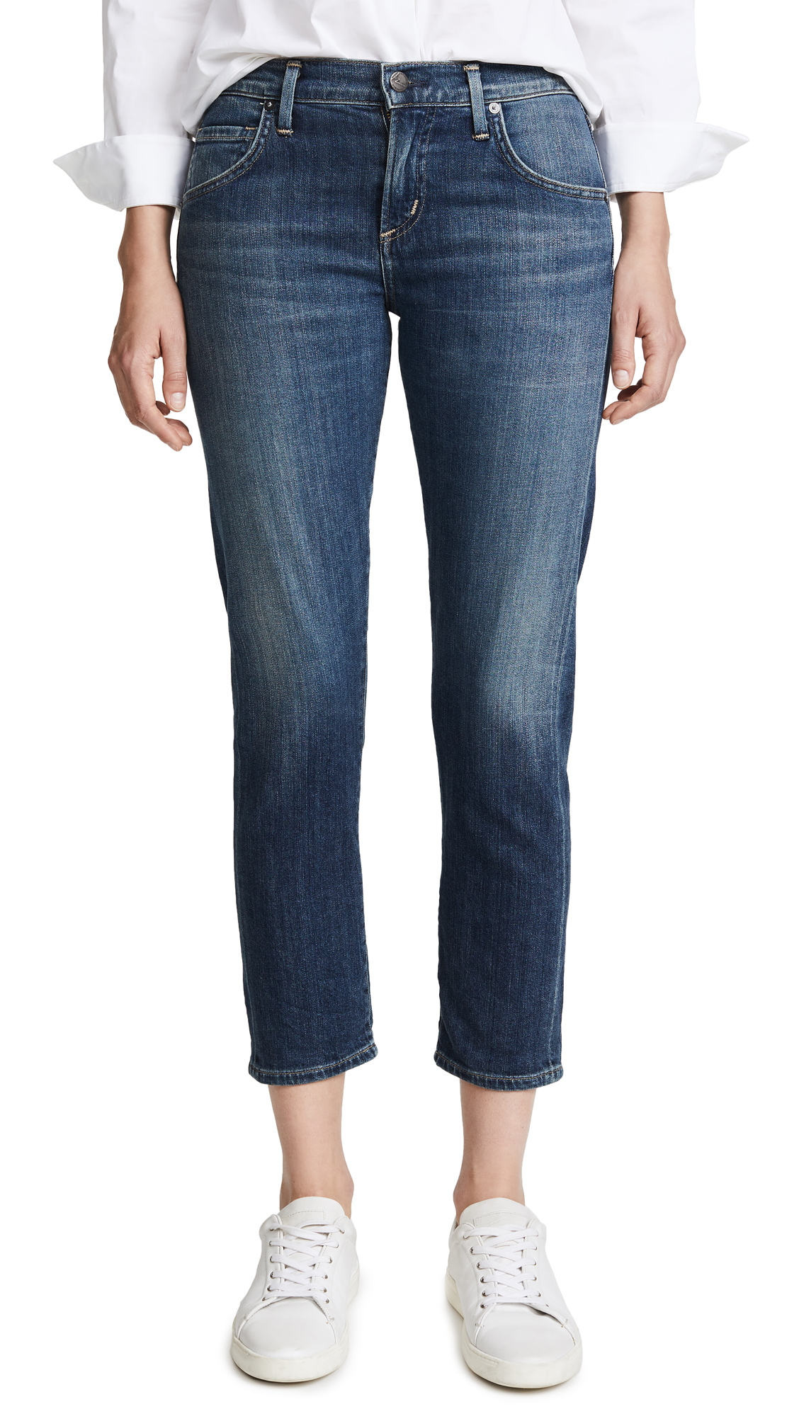 Citizens of Humanity Emerson Slim Boyfriend Ankle Jeans - El Dorado