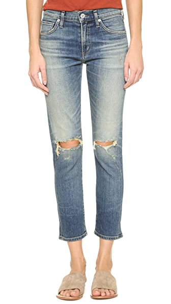 Citizens Of Humanity Agnes Crop Slim Straight Jeans - Straight Up at Shopbop