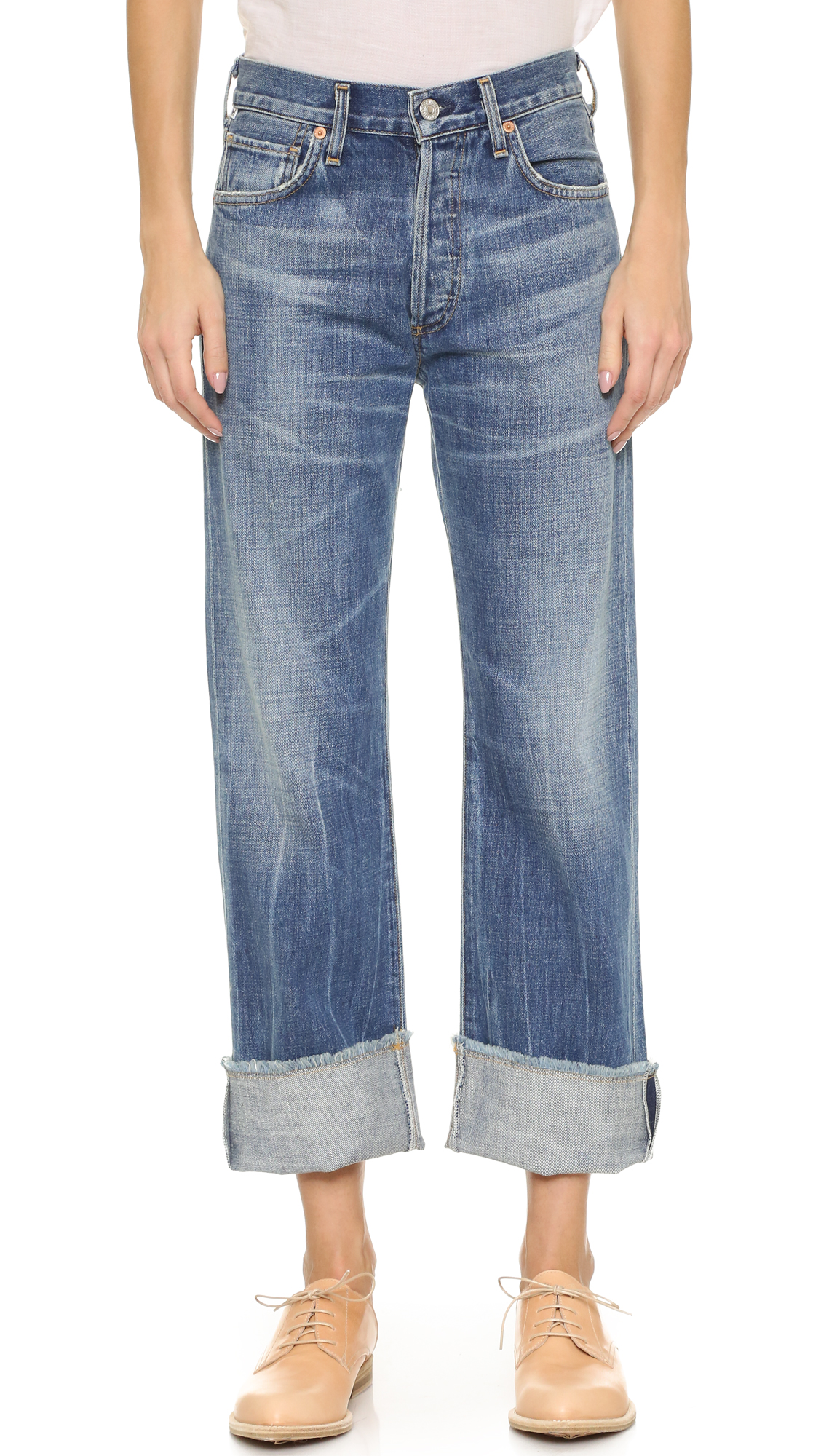 Citizens Of Humanity Parker Relaxed Cuffed Crop Jeans - Anberlin at Shopbop