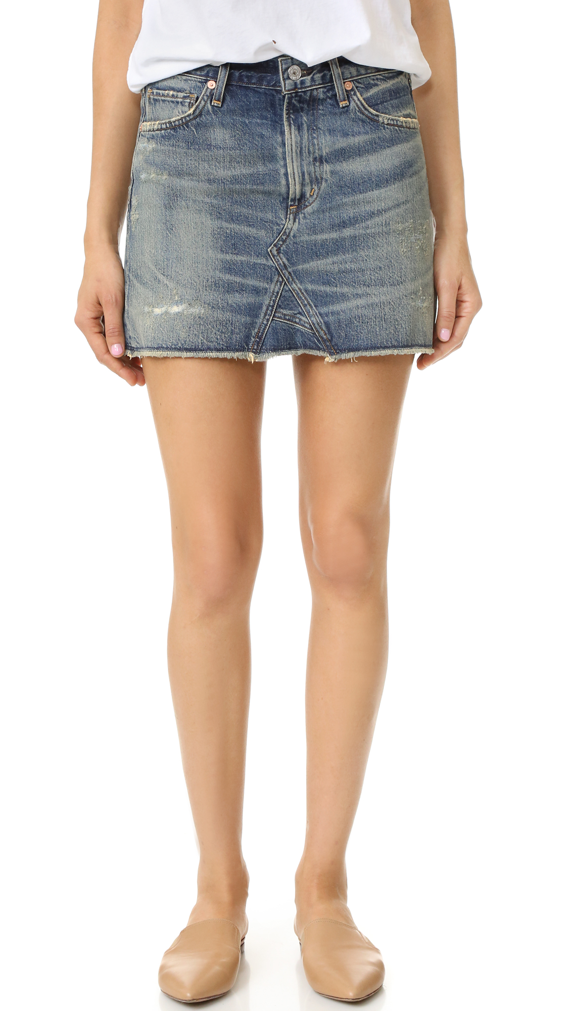 Citizens Of Humanity Cutoff Miniskirt - Greenpoint at Shopbop