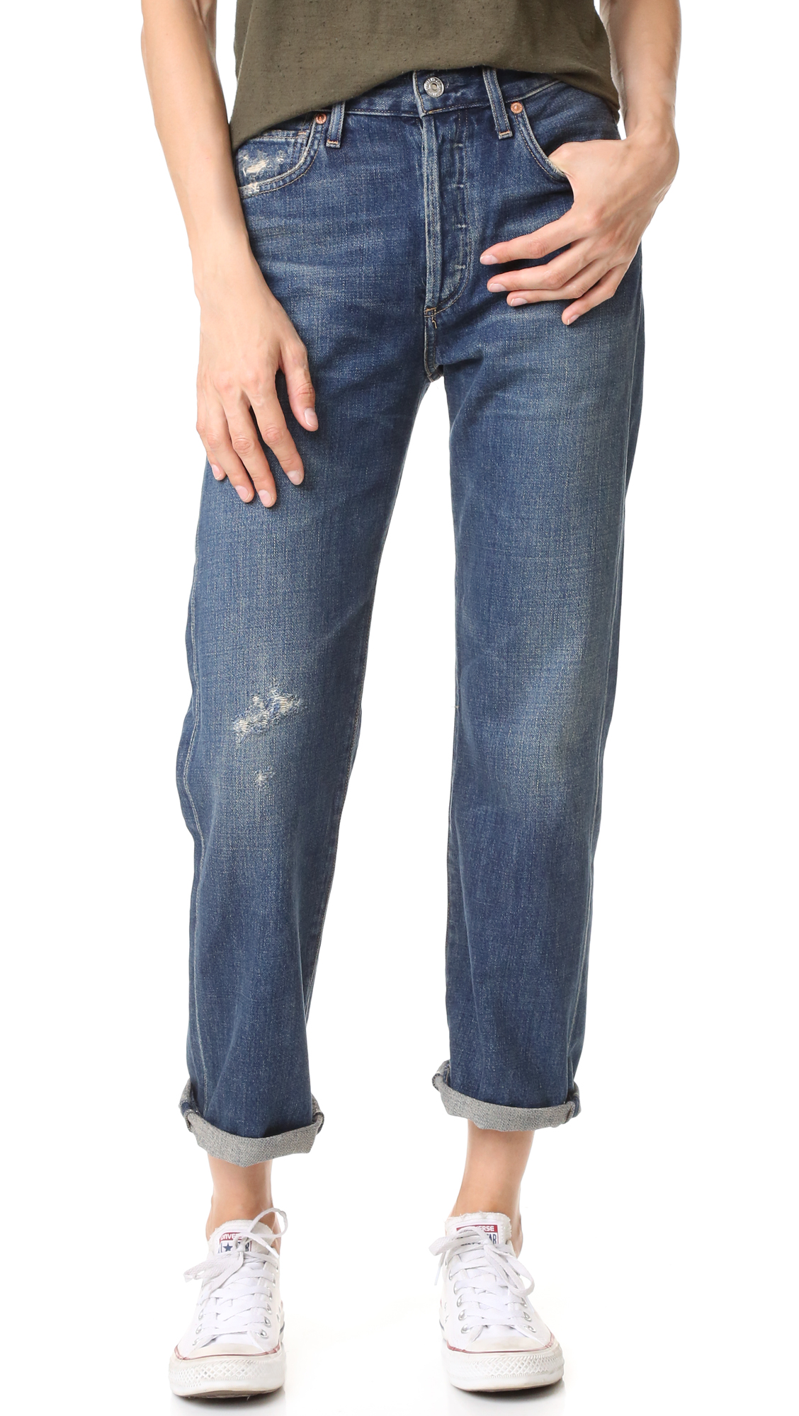 Citizens Of Humanity Cora High Rise Relaxed Crop Jeans - Wiltern at Shopbop