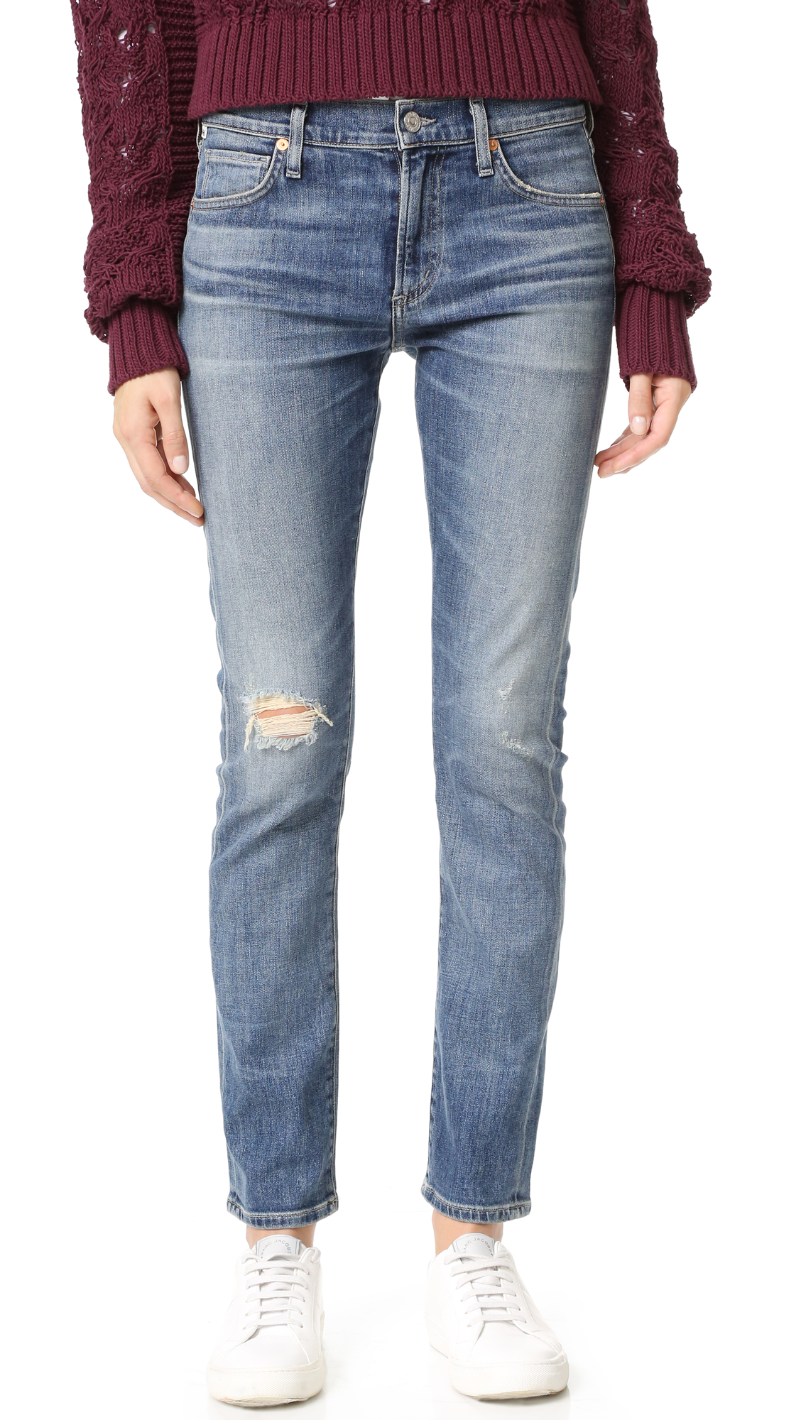 Citizens Of Humanity Agnes Mid Rise Slim Straight Jeans - Roseland at Shopbop