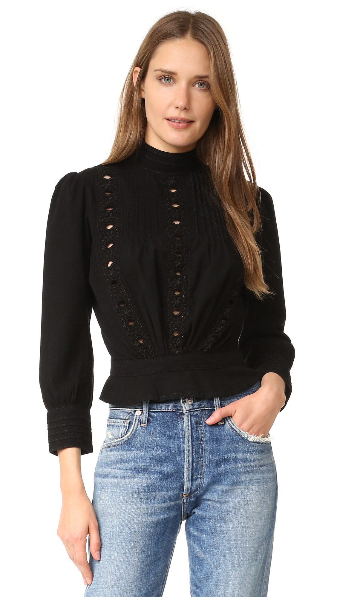 Citizens Of Humanity Josie Blouse - Black at Shopbop