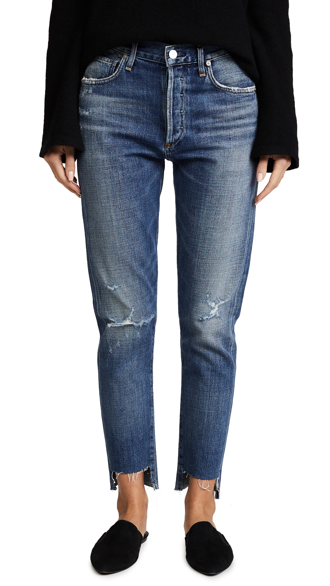 Citizens of Humanity Liya High Rise Classic Fit Jeans - Troublemaker