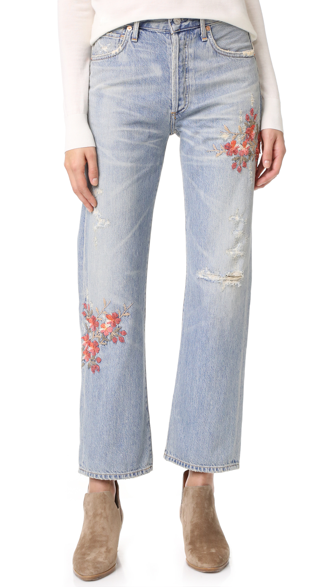 Citizens Of Humanity Cora High Rise Relaxed Crop Jeans - Cherry Blossom at Shopbop