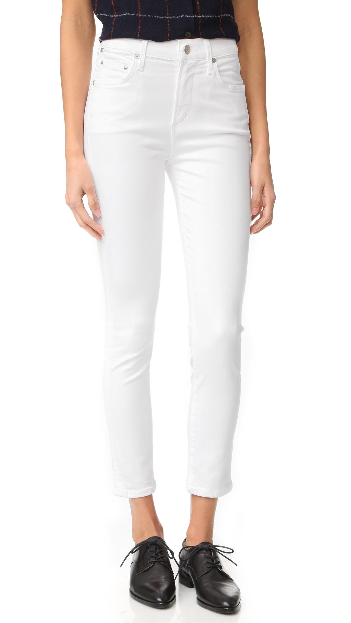 Citizens of Humanity Rocket Sculpt Crop Jeans - White