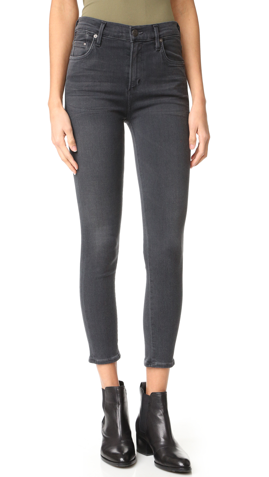 Citizens of Humanity High Rise Rocket Crop Skinny Jeans - Chateau