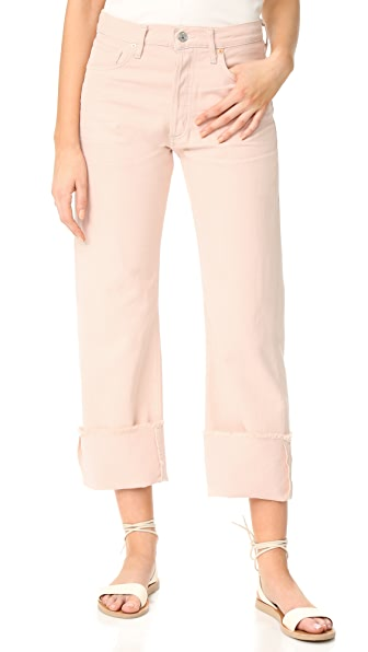 Citizens of Humanity Parker Relaxed Cuffed Crop Jeans In Rose Quartz