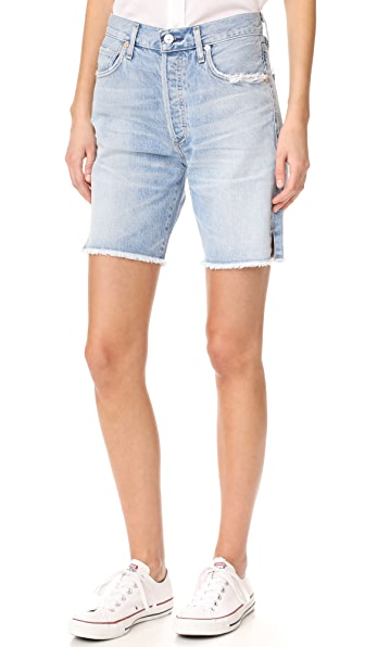 Citizens of Humanity Liya High Rise Classic Fit Shorts at Shopbop