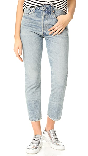 Citizens of Humanity Dree High Rise Slim Straight Crop Jeans at Shopbop