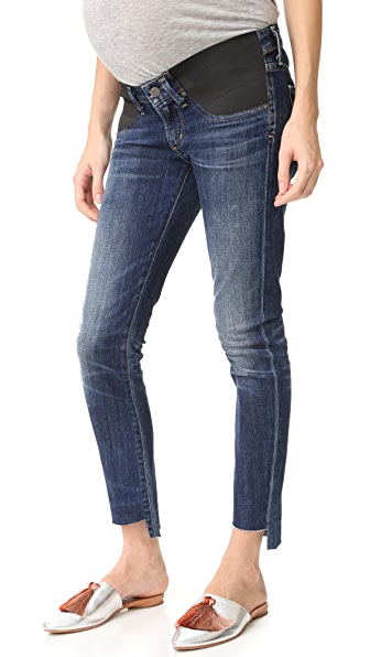 Citizens of Humanity Maternity Racer High Low Jeans - Patina