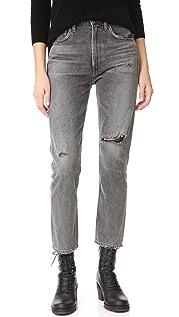 Citizens of Humanity Укороченные узкие прямые джинсы Dree с высокой посадкой