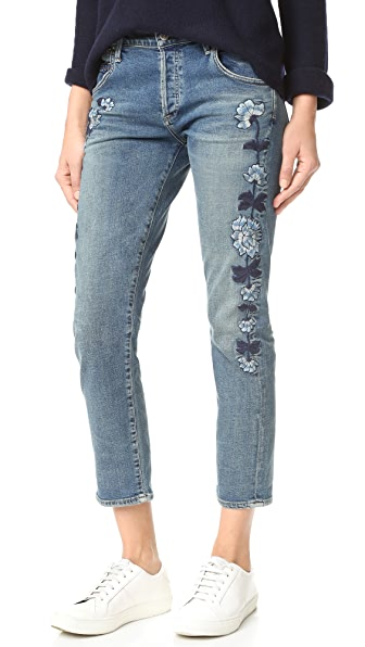 Citizens of Humanity Emerson Slim Fit Boyfriend Jeans - Vibe Western Roses