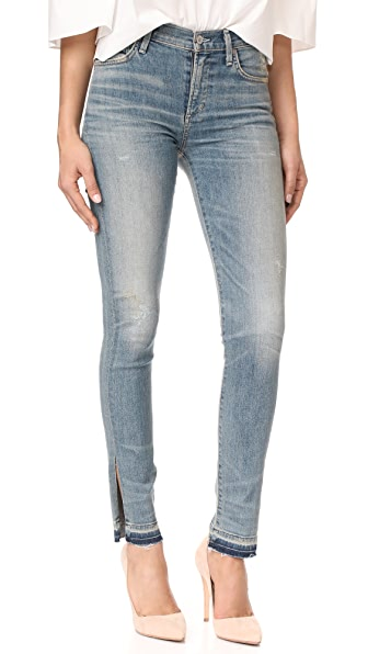 Citizens of Humanity Rocket Jeans with Split Hem - Good Luck