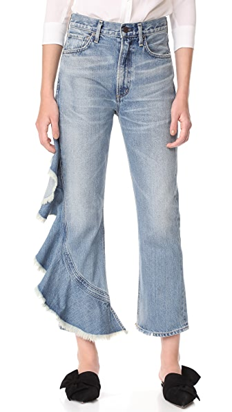 Citizens of Humanity Estella Side Ruffle Jeans - Caliente