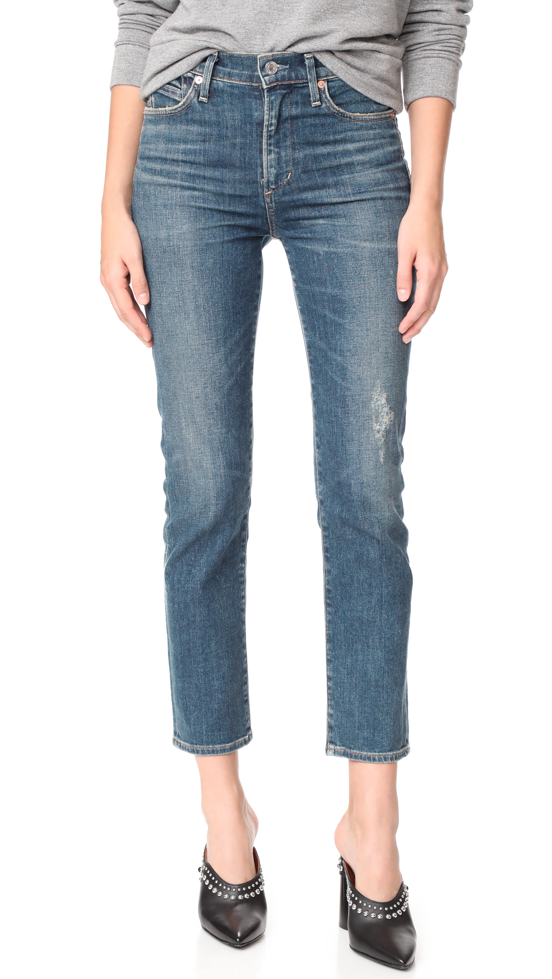 Citizens of Humanity The Cara Ankle Cigarette Jeans - Ankara