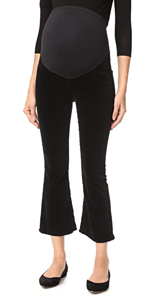 Citizens of Humanity Maternity Drew Crop Pants - Black
