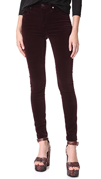 Citizens of Humanity Velvet Rocket Pants - Black Currant