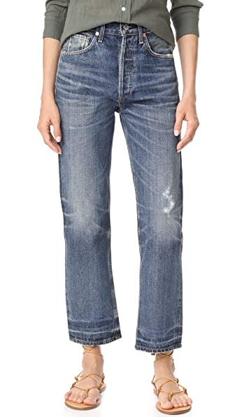 Citizens of Humanity Gia High Rise Ankle Straight Leg Jeans - Rollins