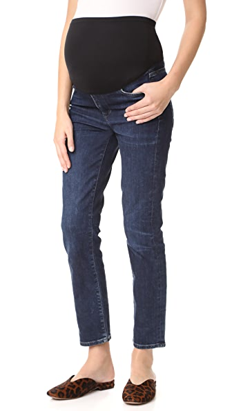 Citizens of Humanity Cara Cigarette Ankle Maternity Jeans - Maya Blue