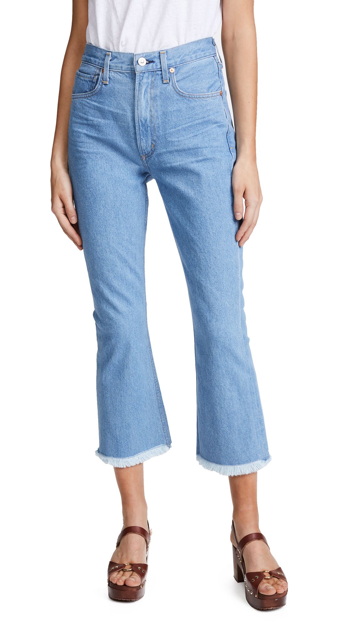 Citizens of Humanity Estella High Rise Fray Ankle Jeans - Day Trip