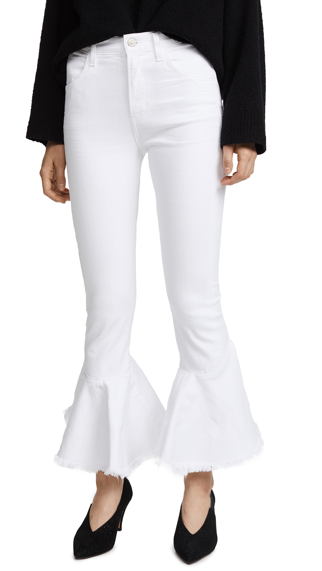 Citizens of Humanity Drew Flounce Jeans - Optic White