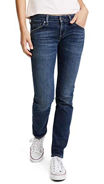 Racer Low Rise Skinny Jeans