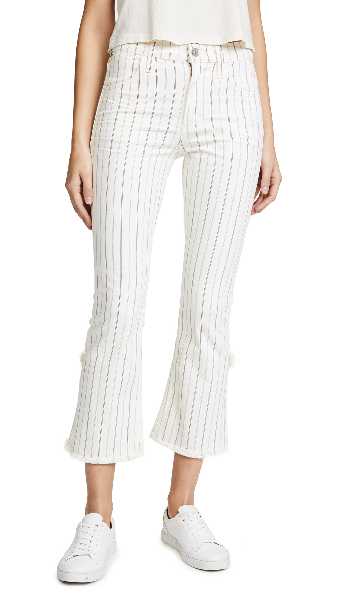 Citizens of Humanity Drew Fray Jeans - Cream Stripe