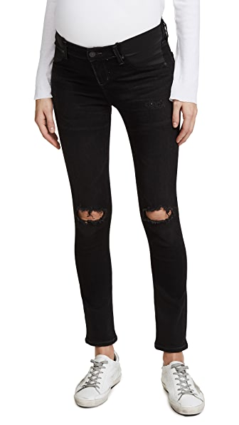 Citizens of Humanity Maternity Avedon Ankle Jeans In Distressed Darkness
