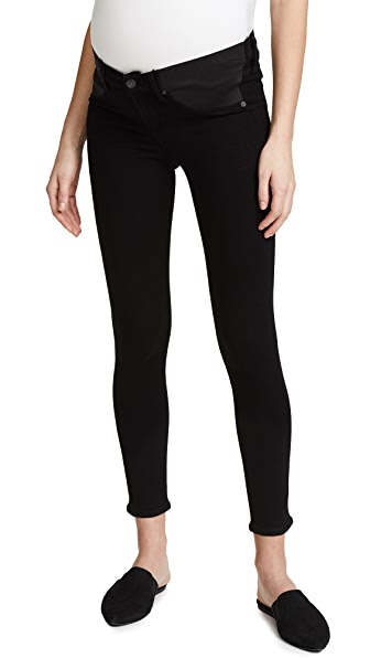 b3b45f5062375 CITIZENS OF HUMANITY MATERNITY AVEDON ANKLE JEANS, ALL BLACK
