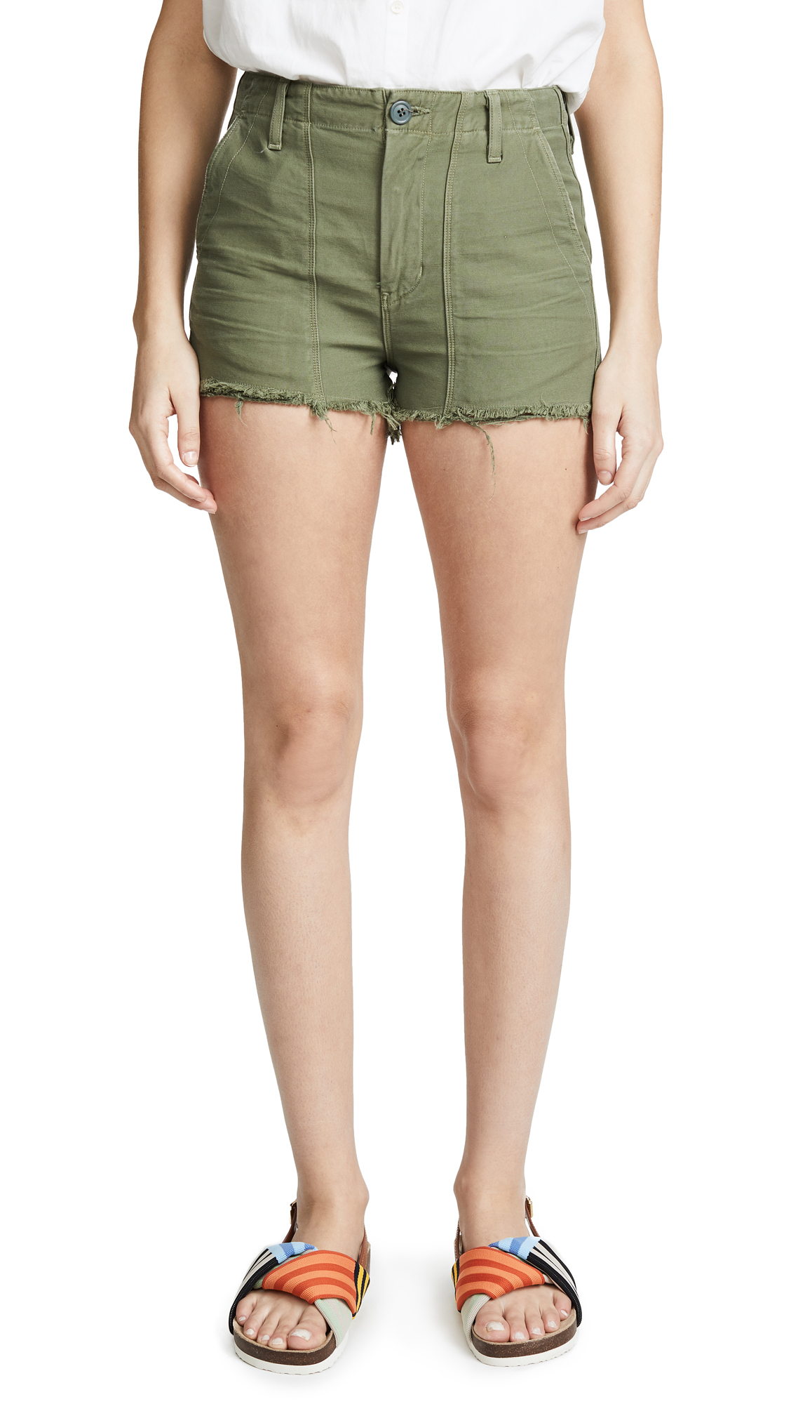 Citizens of Humanity Meghan Shorts In Combat Green