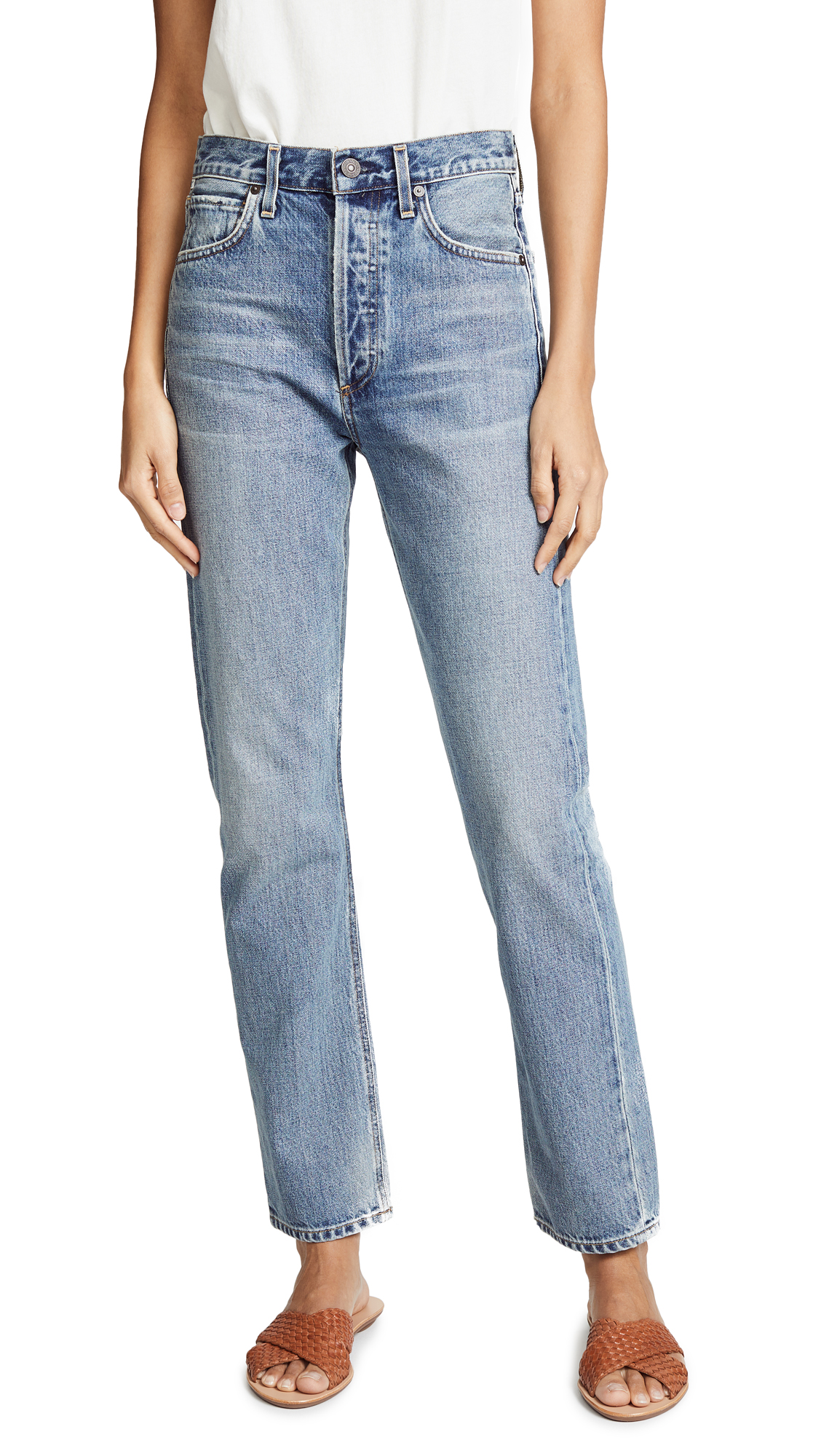 Citizens of Humanity Charlotte High Rise Straight Jeans - Wynwood