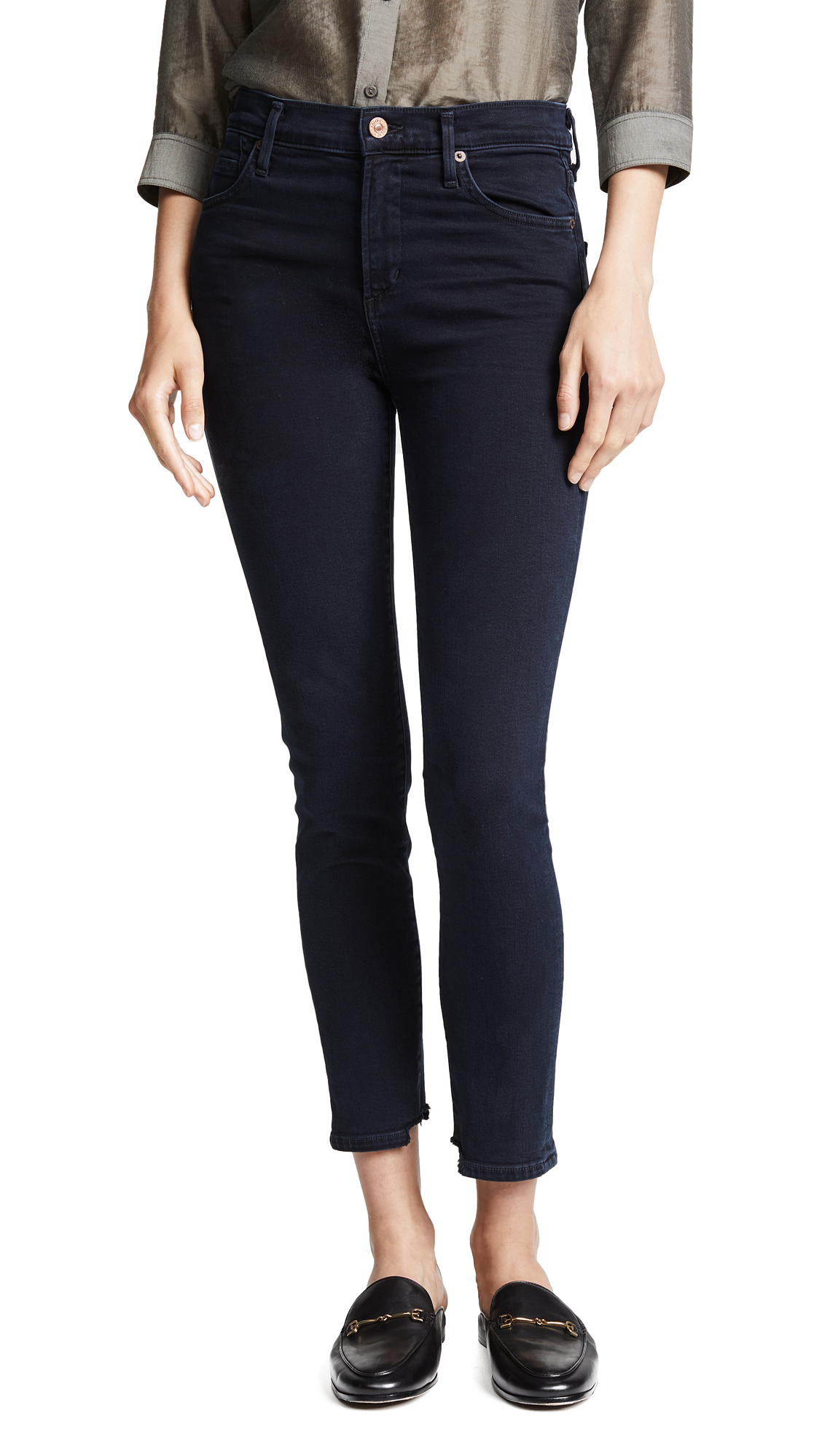 Citizens of Humanity Rocket Crop High Rise Skinny Jeans - Blue Print