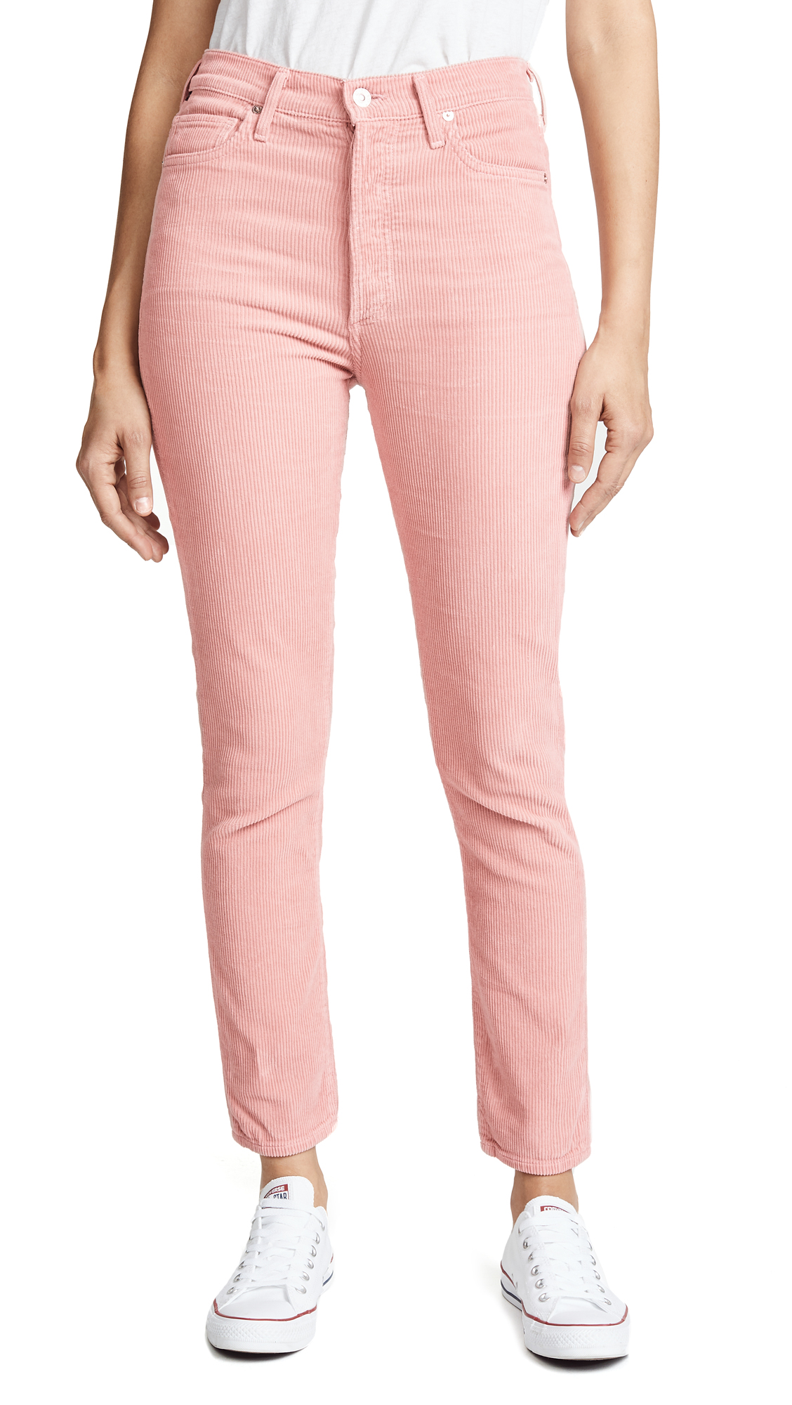 Citizens of Humanity Olivia High Rise Slim Ankle Jeans - Pink Dust