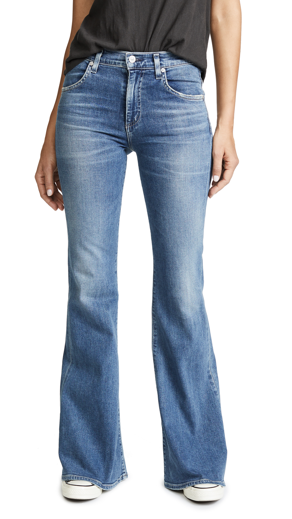 Chloe Mid Rise Super Flare Jeans