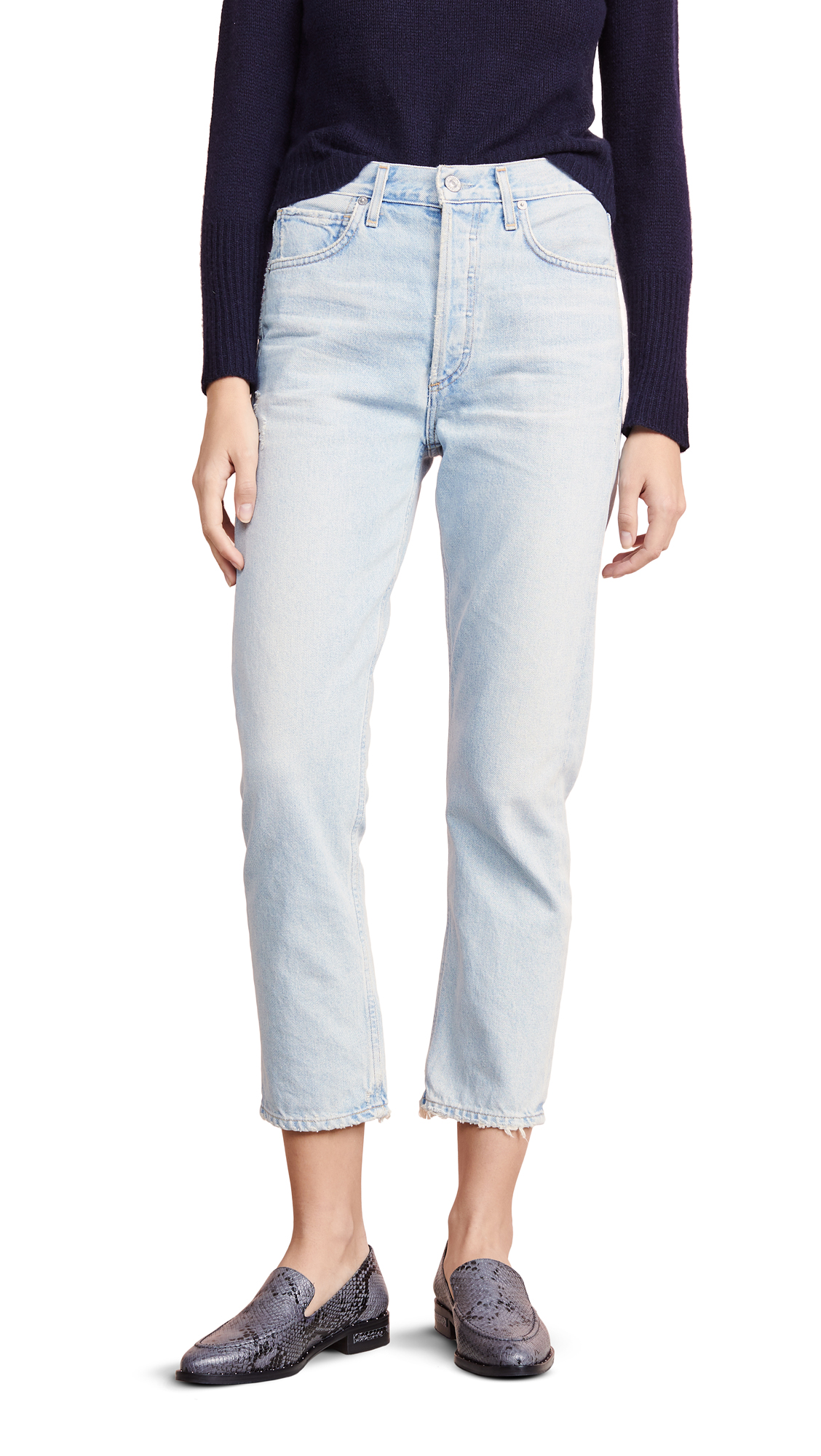 Citizens of Humanity Charlotte Crop High Rise Straight Jeans - Wild One