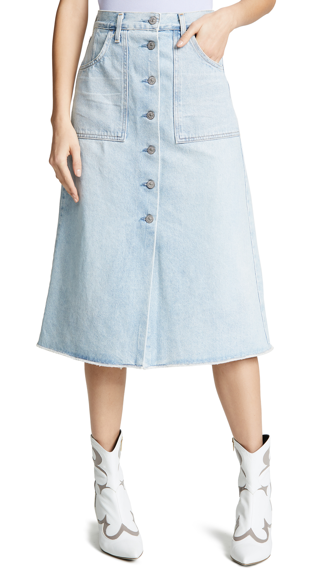 Citizens of Humanity Amelia Skirt - Sea Spray