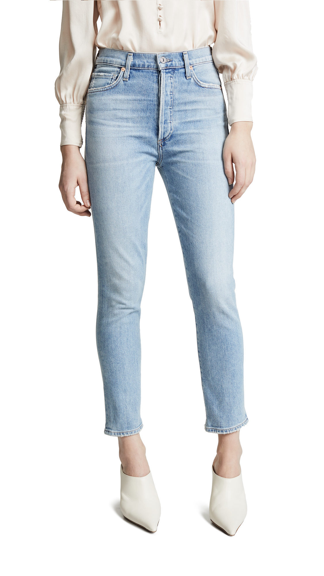 Citizens of Humanity Olivia Crop High Rise Slim Ankle Jeans - Renew