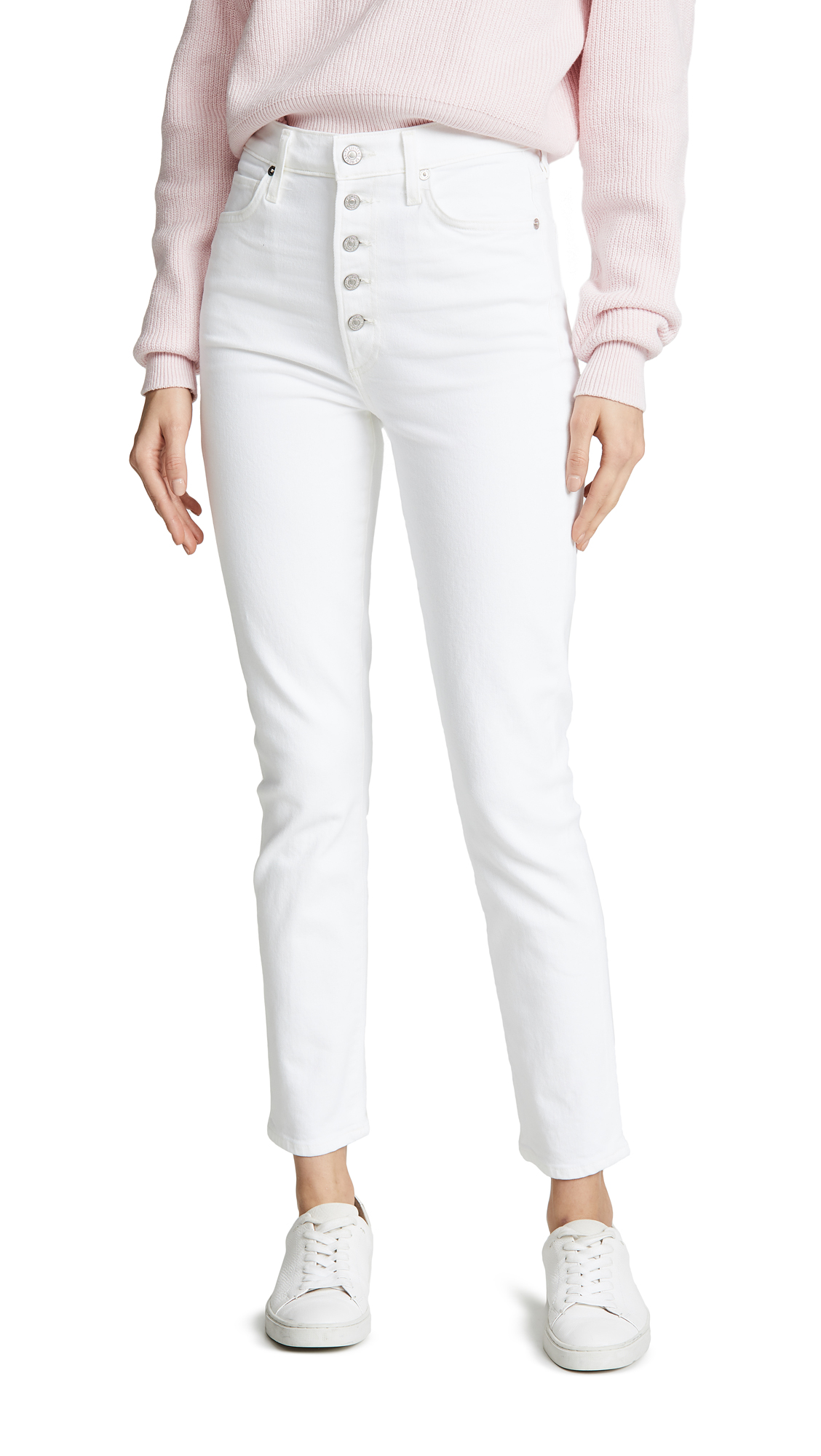 Citizens of Humanity Olivia Exposed Fly High Rise Slim Ankle Jeans - Unveil
