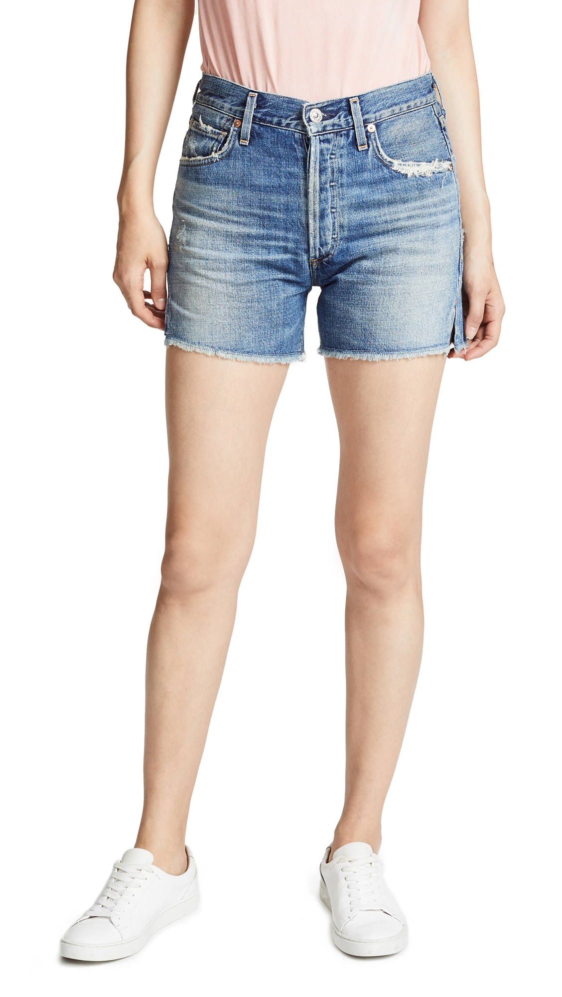 Citizens of Humanity Nikki Shorts In Summertimes Blue