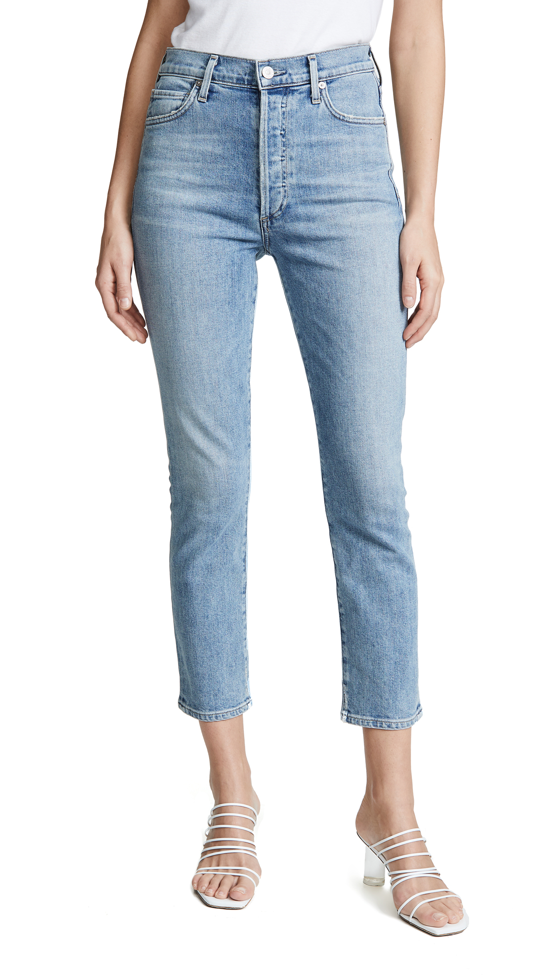 Citizens of Humanity Olivia Seam High Rise Slim Cropped Jeans - Outset