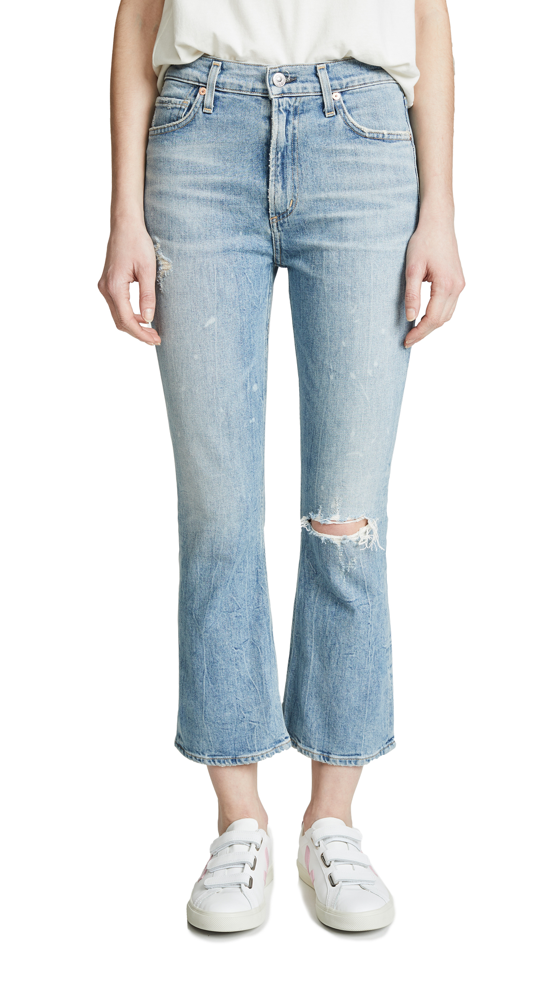 Citizens of Humanity Demy Cropped Flare Jeans - Stargazer