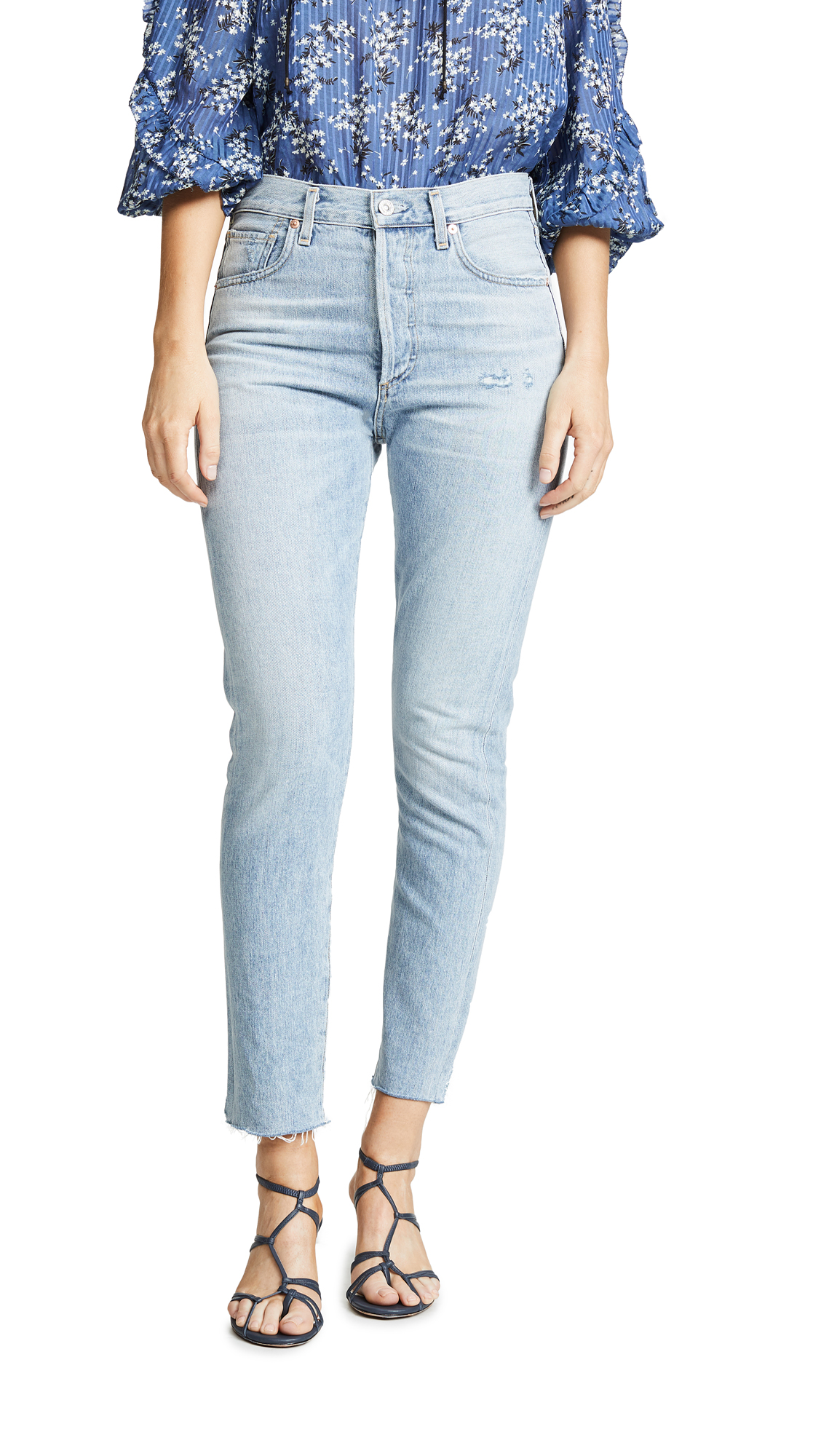 Citizens of Humanity Liya High Rise Classic Fit Jeans - Coastal
