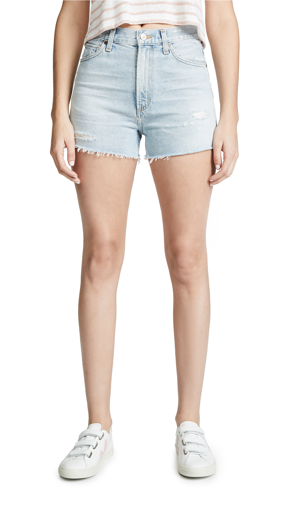 Citizens of Humanity Kristen High Rise Shorts - Forget Me Not