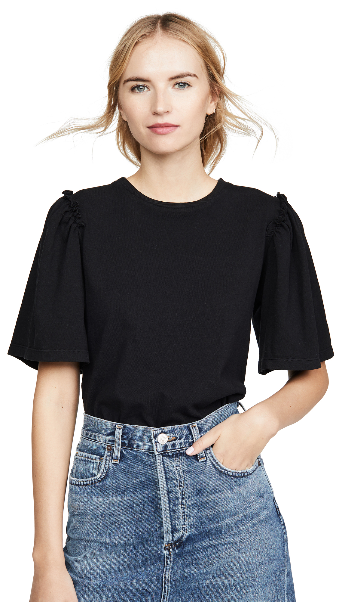 Buy Citizens of Humanity online - photo of Citizens of Humanity Vera Gathered Shoulder Top